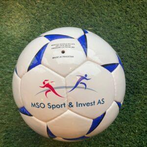 Fotballer med egen logo/klubbens farger (Kr 750.-)